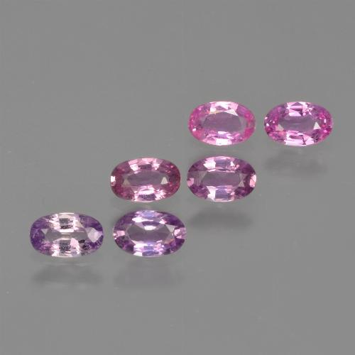 Purple Pink Sapphire Gem - 0.3ct Oval Facet (ID: 415932)