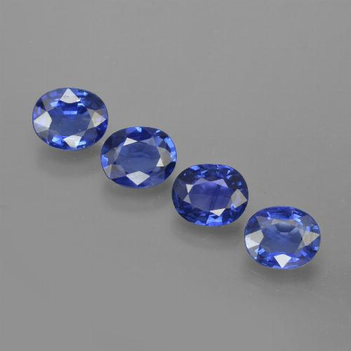 0.66 ct Oval Facet Blue Sapphire Gemstone 5.97 mm x 4.9 mm (Product ID: 417114)