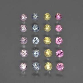 Multicolor Sapphire Gem - 0.1ct Diamond-Cut (ID: 417670)