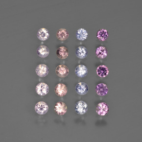 Multicolor Sapphire Gem - 0.1ct Diamond-Cut (ID: 417673)