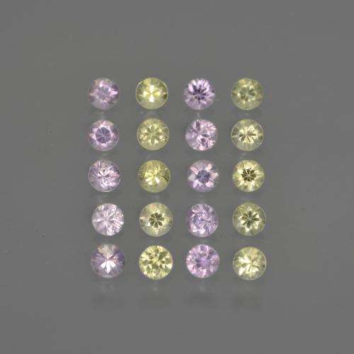 Multicolor Sapphire Gem - 0.1ct Diamond-Cut (ID: 417819)