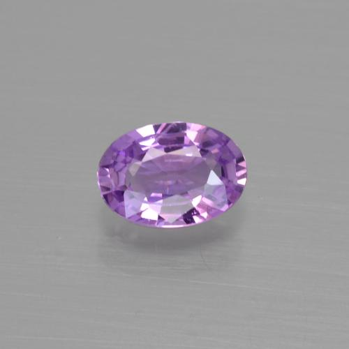Purple Sapphire Gem - 0.6ct Oval Facet (ID: 417922)