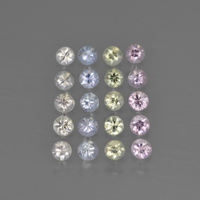 Multicolor Zafiro Gema - 0.1ct Corte Diamante (ID: 417957)
