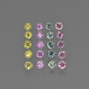Multicolor Zafiro Gema - 0.1ct Corte Diamante (ID: 417958)