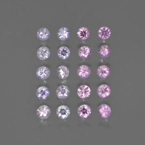 Multicolor Sapphire Gem - 0.1ct Diamond-Cut (ID: 418566)