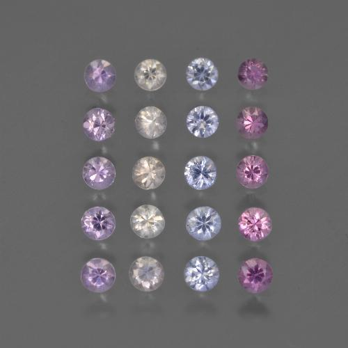 Multicolor Sapphire Gem - 0.1ct Diamond-Cut (ID: 418573)