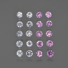 Multicolor Zafiro Gema - 0.1ct Corte Diamante (ID: 418574)