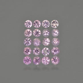 Medium Pink Sapphire Gem - 0.1ct Diamond-Cut (ID: 419754)