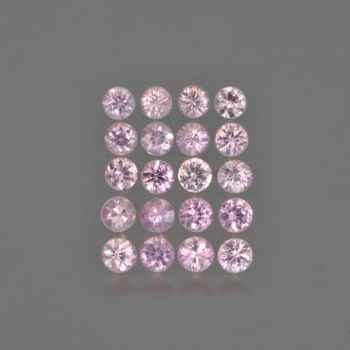 Bright Pink Zafiro Gema - 0.1ct Corte Diamante (ID: 419758)