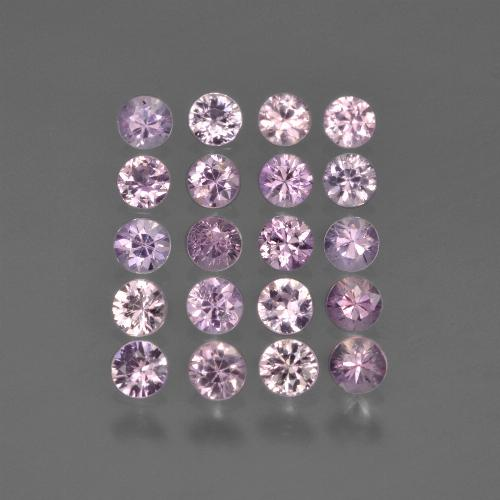 Pinkish Purple Sapphire Gem - 0.1ct Diamond-Cut (ID: 419767)