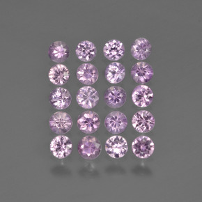 Very Light Purple Pink Zafiro Gema - 0.1ct Corte Diamante (ID: 419768)