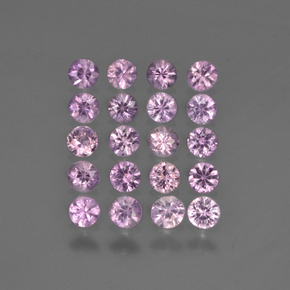 Medium Violet Zafiro Gema - 0.1ct Corte Diamante (ID: 419771)