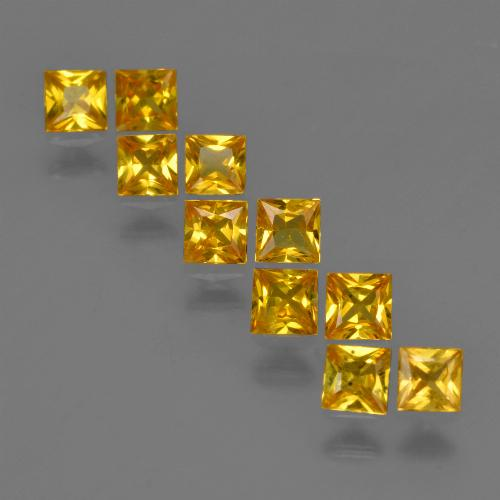 Yellow Golden Sapphire Gem - 0.2ct Princess-Cut (ID: 420181)