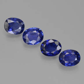 0.68 ct Oval Facet Royal Blue Sapphire Gemstone 6.14 mm x 4.8 mm (Product ID: 420664)