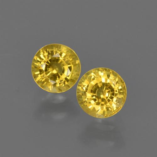 Yellow Sapphire Gem - 0.5ct Round Facet (ID: 420803)
