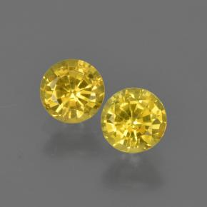 Yellow Sapphire Gem - 0.5ct Round Facet (ID: 420806)