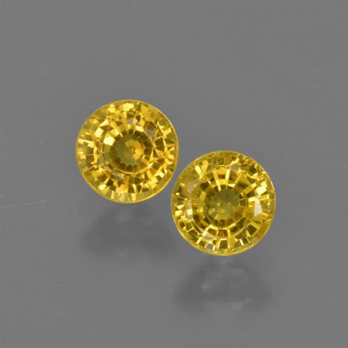 Yellow Sapphire Gem - 0.5ct Round Facet (ID: 420807)