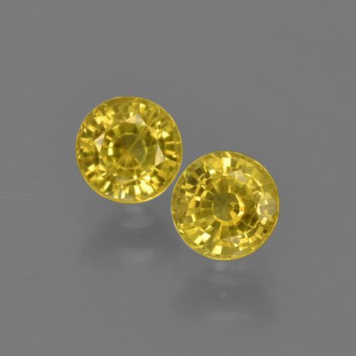 Yellowish Gold Zafiro Gema - 0.5ct Faceta Redonda (ID: 420808)