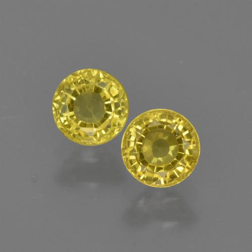 Yellow Sapphire Gem - 0.5ct Round Facet (ID: 420809)