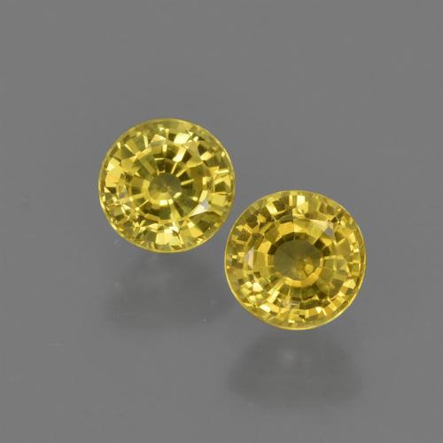 Yellow Sapphire Gem - 0.5ct Round Facet (ID: 420812)