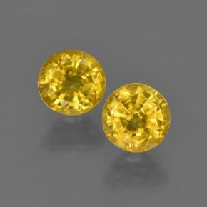 Yellow Sapphire Gem - 0.5ct Round Facet (ID: 420826)