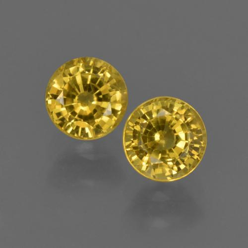Yellow Sapphire Gem - 0.6ct Round Facet (ID: 420830)