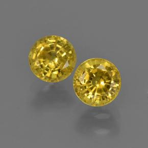Yellow Sapphire Gem - 0.5ct Round Facet (ID: 420832)