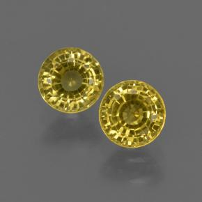 Yellow Sapphire Gem - 0.5ct Round Facet (ID: 420833)