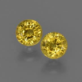 Yellow Sapphire Gem - 0.5ct Round Facet (ID: 420834)