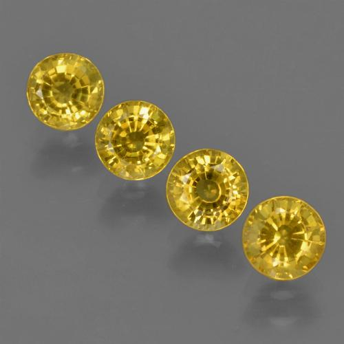 Yellow Golden Sapphire Gem - 0.5ct Round Facet (ID: 420836)