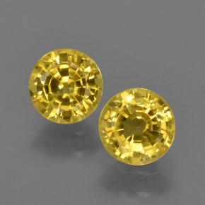 Yellow Sapphire Gem - 0.6ct Round Facet (ID: 420877)