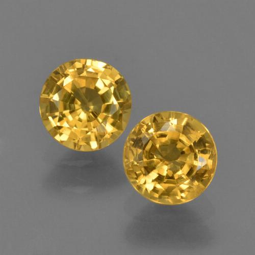 Yellow Sapphire Gem - 0.6ct Round Facet (ID: 420879)