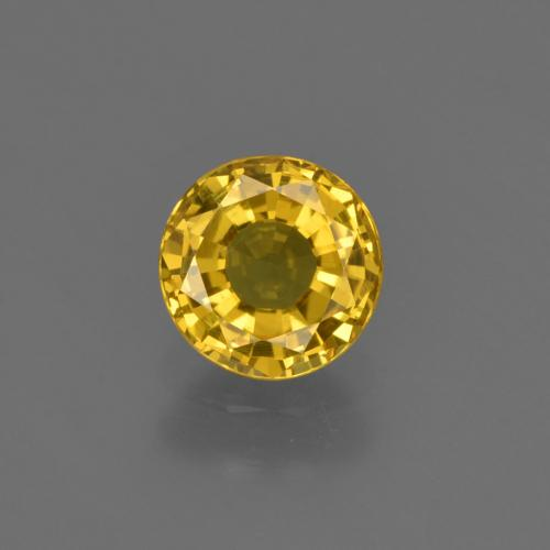 Deep Yellow Zafiro Gema - 0.8ct Faceta Redonda (ID: 420946)