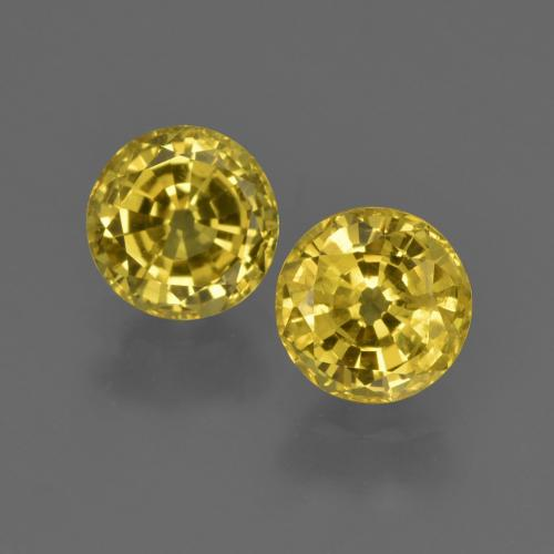 Light Honey Yellow Zafiro Gema - 0.8ct Faceta Redonda (ID: 420947)