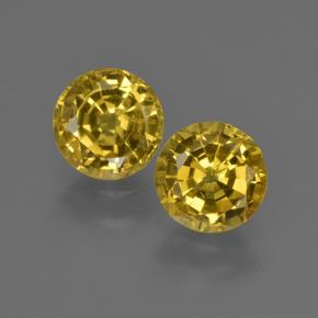 Honey Yellow Sapphire Gem - 0.8ct Round Facet (ID: 420950)