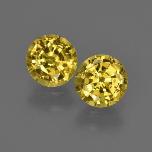 Yellow Sapphire Gem - 0.7ct Round Facet (ID: 420955)