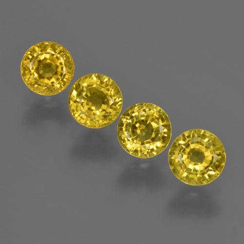 Yellow Golden Sapphire Gem - 0.5ct Round Facet (ID: 421023)