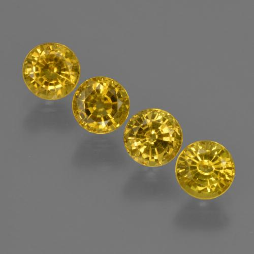 Yellow Golden Sapphire Gem - 0.6ct Round Facet (ID: 421024)