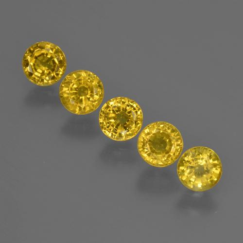 Yellow Golden Sapphire Gem - 0.5ct Round Facet (ID: 421025)