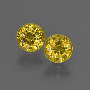 0.70 ct Round Facet Yellow Sapphire Gemstone 4.99 mm  (Product ID: 421042)