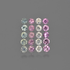 Multicolor Sapphire Gem - 0.1ct Diamond-Cut (ID: 421166)