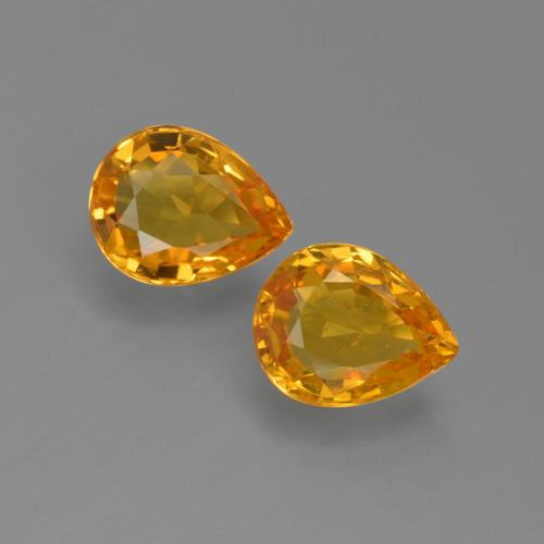 Medium Orange Sapphire Gem - 0.7ct Pear Facet (ID: 421685)