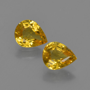 Yellow Golden Sapphire Gem - 0.7ct Pear Facet (ID: 421686)