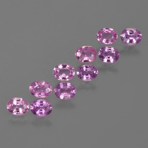 Purple Pink Sapphire Gem - 0.2ct Oval Facet (ID: 421708)