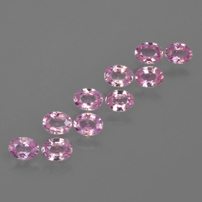 Pink Sapphire Gem - 0.2ct Oval Facet (ID: 421711)