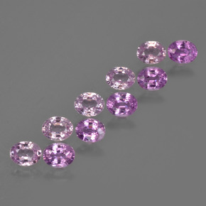 Purple Pink Sapphire Gem - 0.3ct Oval Facet (ID: 421717)