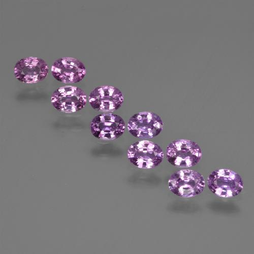 Purple Pink Sapphire Gem - 0.2ct Oval Facet (ID: 421824)