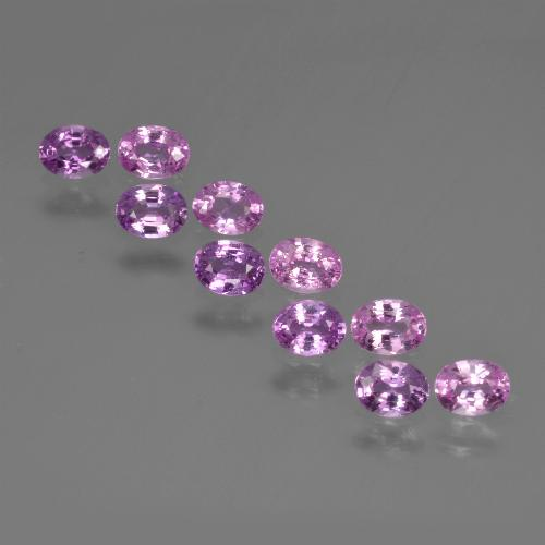 Purple Pink Sapphire Gem - 0.2ct Oval Facet (ID: 421825)