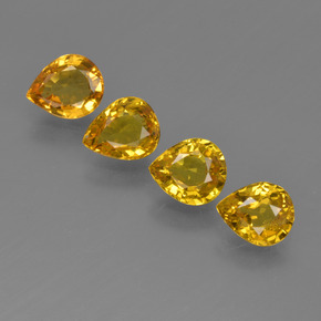 Honey Yellow Sapphire Gem - 0.7ct Pear Facet (ID: 421831)