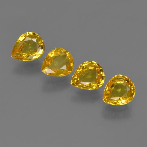 Yellow Golden Sapphire Gem - 0.7ct Pear Facet (ID: 421832)